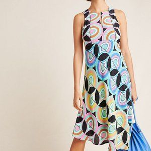 NWT Anthropologie Kenzie Funky Colorful Dress